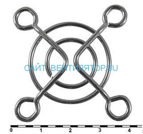 Решетка для вентилятора металлическая 40х40
