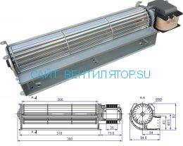 Вентилятор тангенциальный JQF25.60.300R